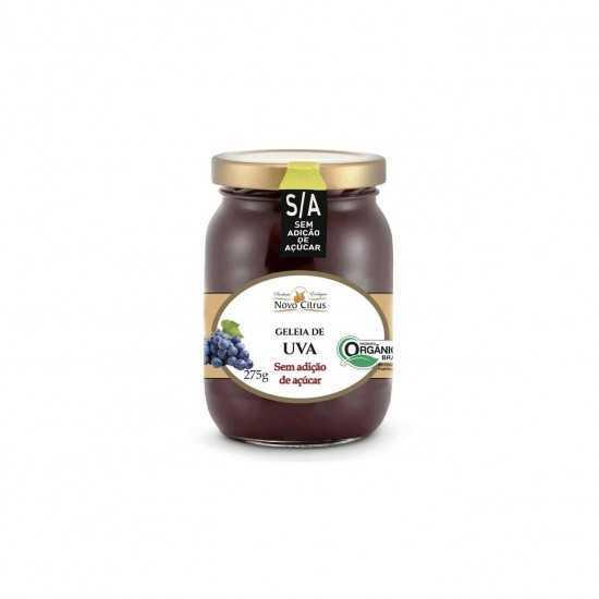 Geleia de Uva Orgânica Sem Açúcar 275g - Novo Citrus