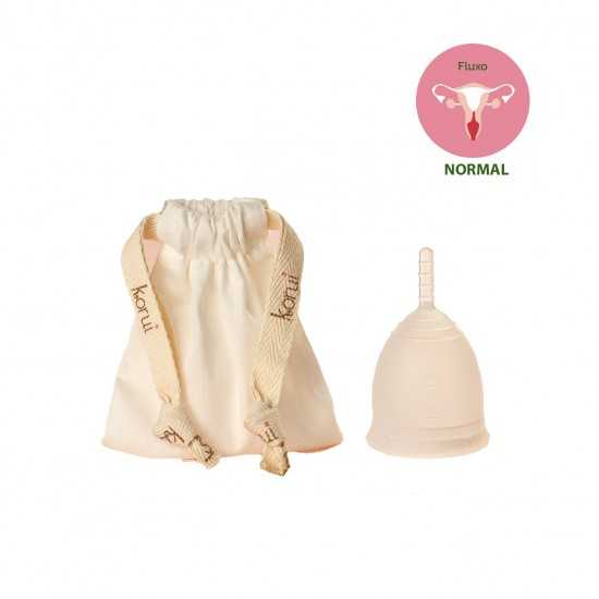 Coletor Menstrual Branco Médio Un - Korui