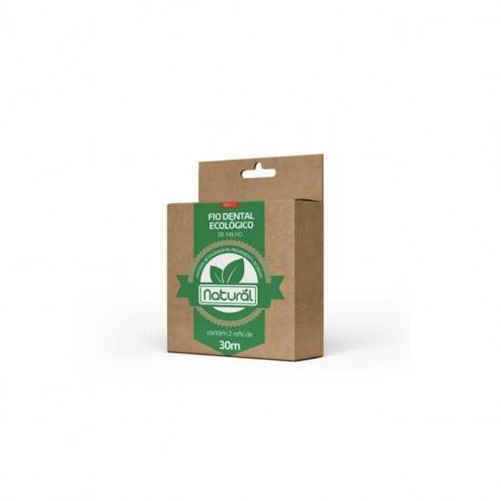 Refil (2 un de 30m) - Fio Dental Ecológico De Milho - Orgânico Natural