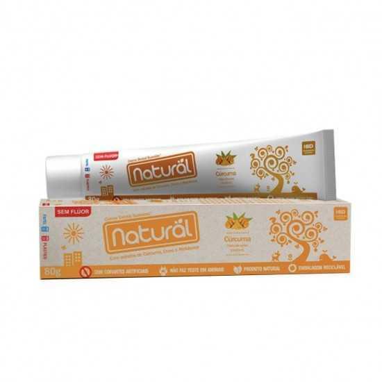 Creme Dental Natural Suavetex com Extratos de Cúrcuma, Cravo e Melaleuca 80g - Orgânico Natural