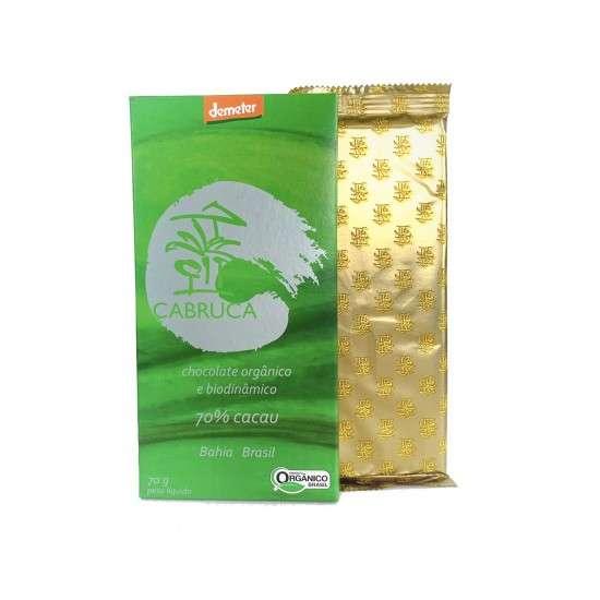 Chocolate Orgânico e Biodinâmico 70% Cacau 70g - Cabruca