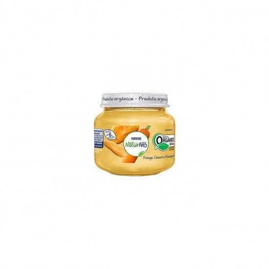 Naturnes - Papinha de Frango, Cenoura e Mandioquinha Orgânica 115g - Nestlé Orgânicos