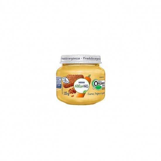 Naturnes - Papinha de Carne, Feijão e Legumes Orgânica 115g - Nestlé Orgânicos