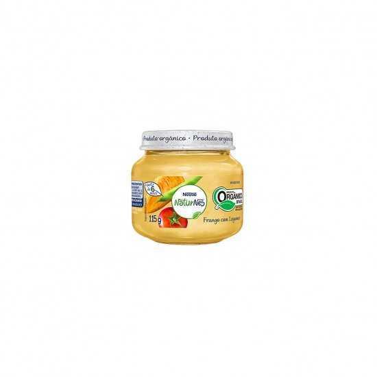 Naturnes - Papinha de Frango com Legumes Orgânica 115g - Nestlé Orgânicos