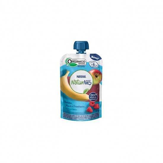 Naturnes Pouch - Bebida de Maçã, Banana e Framboesa Orgânica 99g - Nestlé Orgânicos
