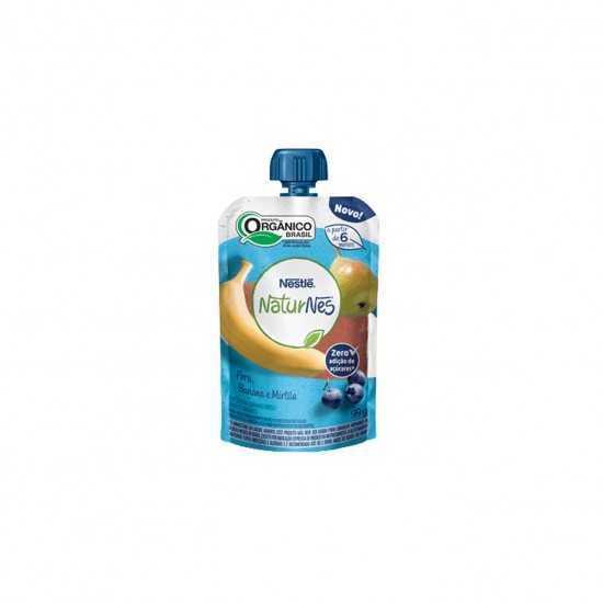 Naturnes Pouch - Bebida de Pera, Banana e Mirtilo Orgânica 99g - Nestlé Orgânicos