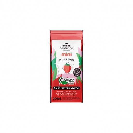 Mini - Bebida Vegetal de Morango Orgânico 200ml - A Tal da Castanha