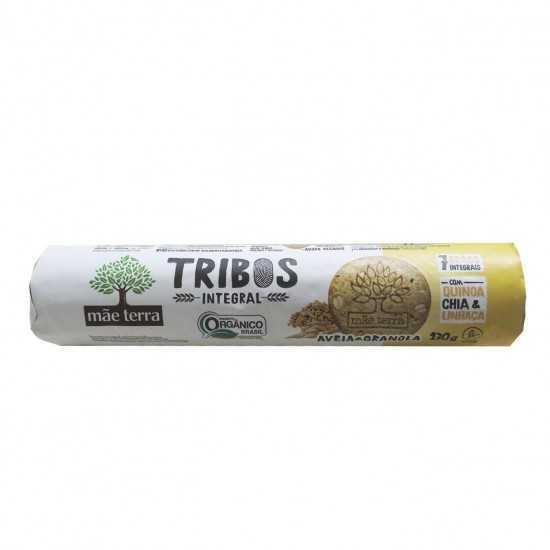 Biscoito Integral de Aveia e Granola Tribos Orgânico 130g - Mãe Terra