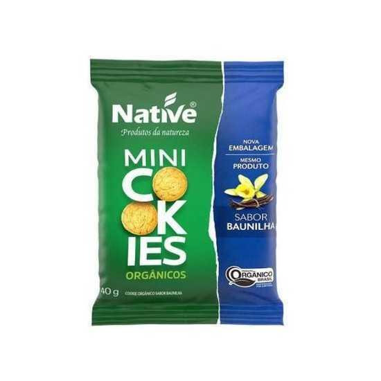 Mini Cookies Orgânicos de Baunilha 40g - Native