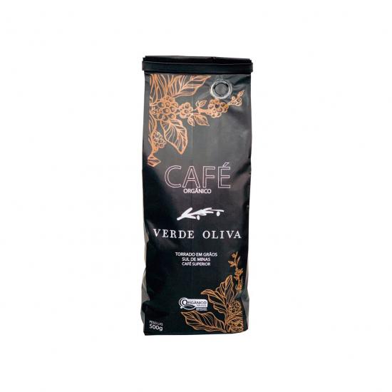 Café Orgânico Torrado em Grãos 500g - Verde Oliva