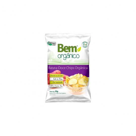 Batata Doce Chips Orgânica 30g - Bem Orgânico