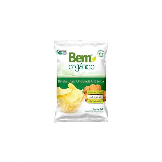 Batata Chips Onda Orgânica 30g - Bem Orgânico