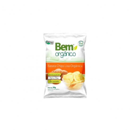 Batata Chips Lisa Orgânica 30g - Bem Orgânico