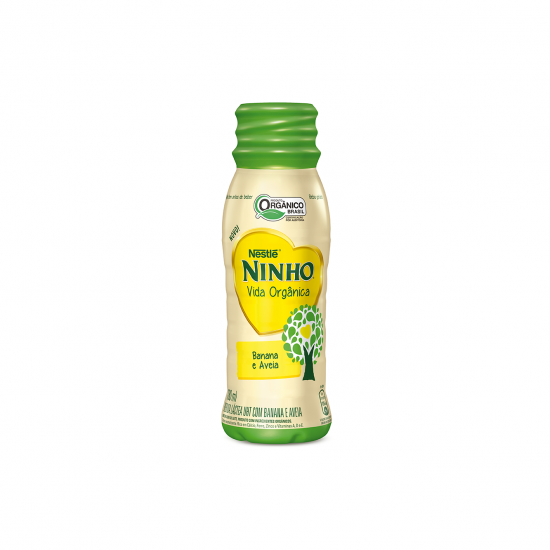 Bebida Láctea de Banana e Aveia Orgânica 180ml - Nestle Orgânicos