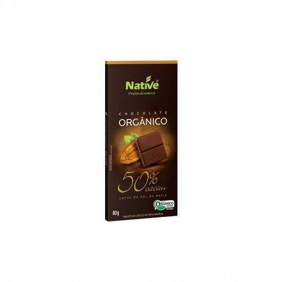 Barra de Chocolate Orgânico 50% Cacau 80g - Native