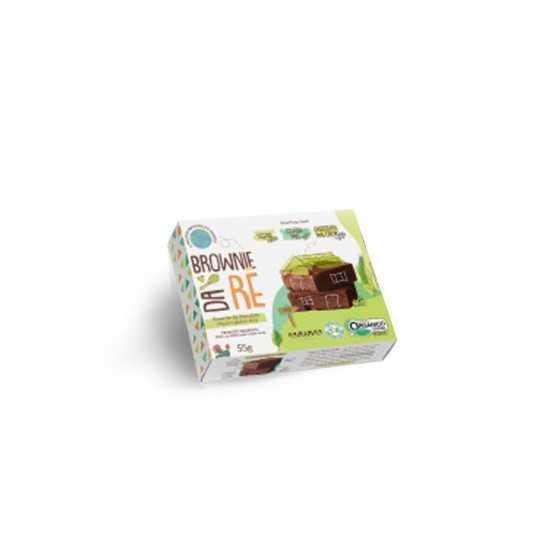 Brownie de Chocolate Orgânico Vegano Glúten Free 55g - Brownie da Rê