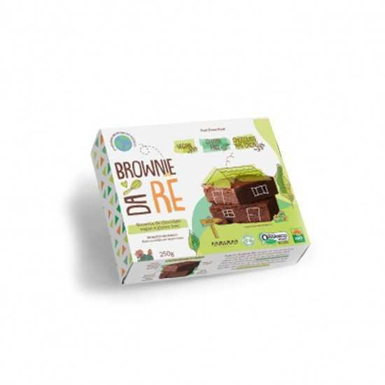 Brownie de Chocolate Orgânico Vegano Glúten Free 250g - Brownie da Rê