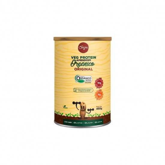 Veg Protein Amendoim Orgânico Original 450g - Organ Alimentos