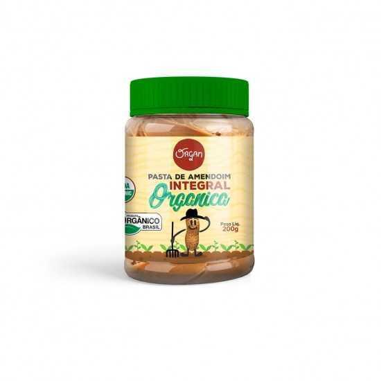 Pasta de Amendoim Integral Orgânica 200g - Organ Alimentos