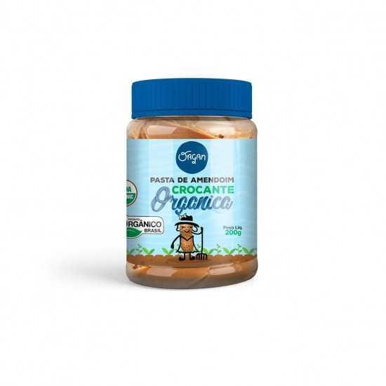 Pasta de Amendoim Crocante Orgânica 200g - Organ Alimentos