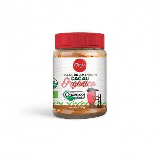 Pasta de Amendoim com Cacau Orgânica 200g - Organ Alimentos