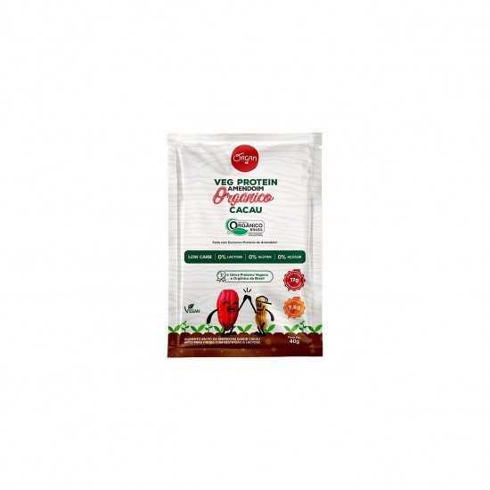 Sachê Veg Protein Amendoim Cacau Orgânico 40g - Organ Alimentos