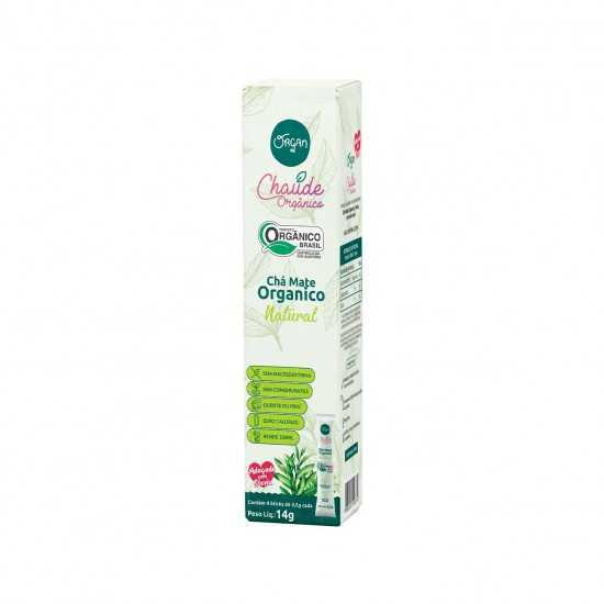 Chá Mate Orgânico Natural Stick 4x3,5g - Organ Alimentos