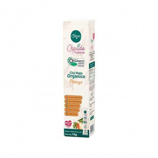 Chá Mate Pêssego Orgânico Stick 4x3,5g - Organ Alimentos