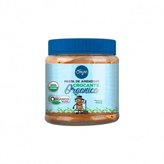 Pasta de Amendoim Crocante Orgânica 400g - Organ Alimentos
