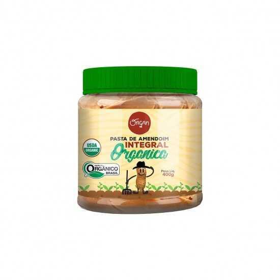 Pasta de Amendoim Integral Orgânica 400g - Organ Alimentos