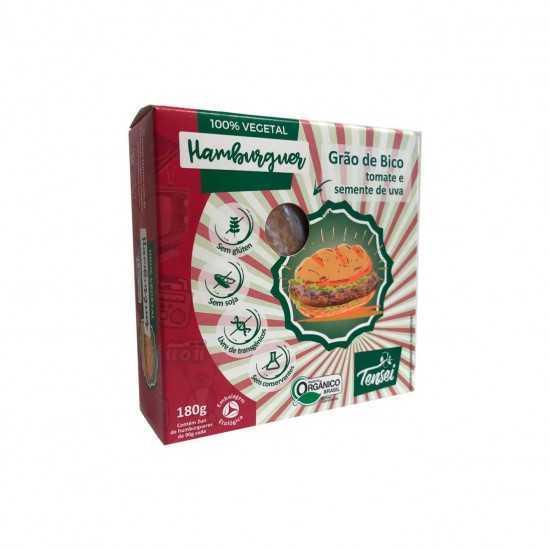 Hambúrguer de Grão de bico com Tomate Orgânico - Tensei Orgânicos
