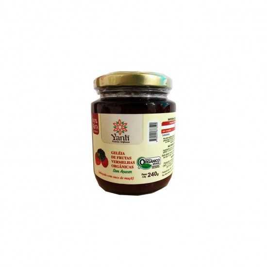 Geleia de Frutas Vermelhas Orgânicas Sem Açúcar 240g - Yanti
