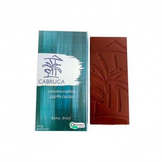 Chocolate Orgânico 100% Cacau 70g - Cabruca