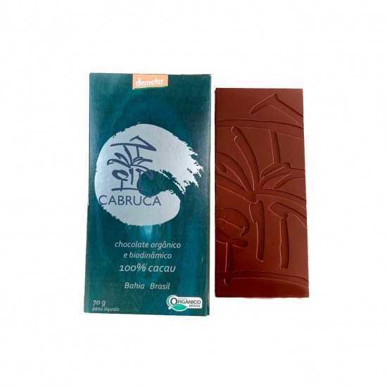 Chocolate Orgânico e Biodinâmico 100% Cacau 70g - Cabruca