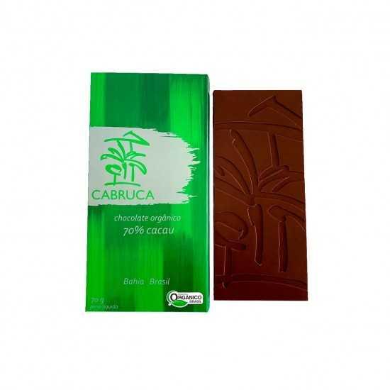 Chocolate Orgânico 70% Cacau 70g - Cabruca