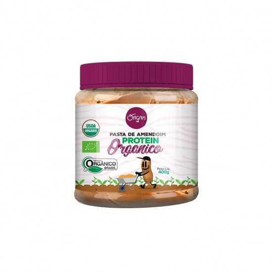 Pasta de Amendoim Protein Orgânica 400g - Organ Alimentos