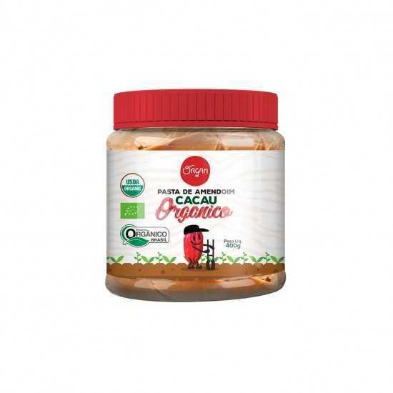 Pasta de Amendoim com Cacau Orgânica 400g - Organ Alimentos