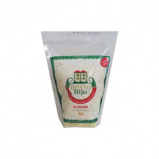 Farinha de Mandioca Flocada Orgânica 400g - Rancho Biju