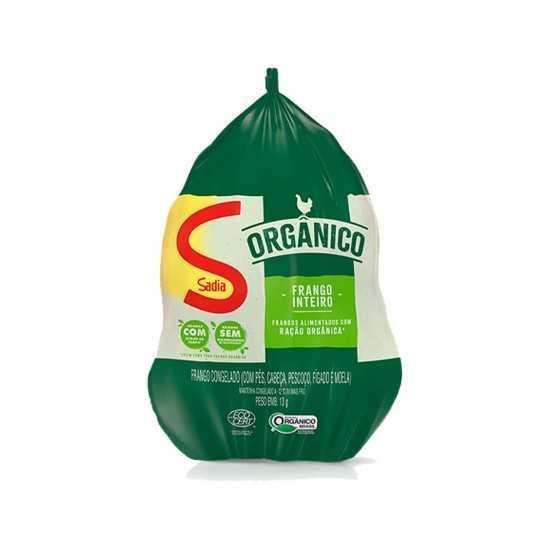 Frango Orgânico Inteiro C/ Miúdos Congelado 1,8 - 2,2kg - Sadia